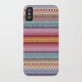 knitting pattern iPhone Case