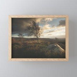 Dramatic Skies Over The Peak District Framed Mini Art Print