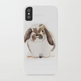 Bunny Watercolor (Flop Eared Bunny) iPhone Case