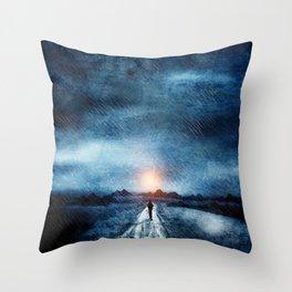 it's raining again Throw Pillow