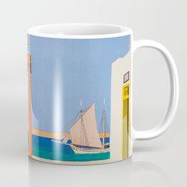Greece Midcentury Modern Vintage Travel Poster Minimal Style Coffee Mug