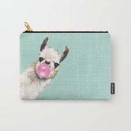 Bubble Gum Sneaky Llama in Green Tasche