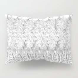 Feather Pattern | Grey and White Pillow Sham