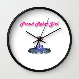 Proud Rebel Girl - Blossom Wall Clock