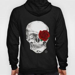 Rose Skull Black Hoody
