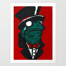 Duke Croakington Art Print