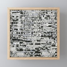 Confused Images Behind the Interface (P/D3 Glitch Collage Studies) Framed Mini Art Print