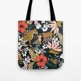 Animal print dark jungle Tote Bag