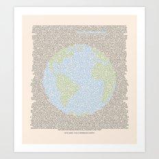 Environmental Consciousness Art Print