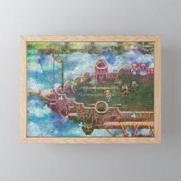 Final Fantasy VI Terra Branford Airship Impressionist Painting Framed Mini Art Print