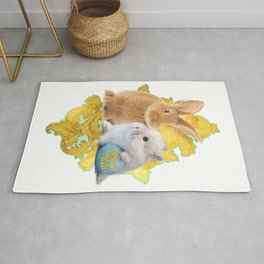 Golden Easter Bunnies (by ACCI) Rug