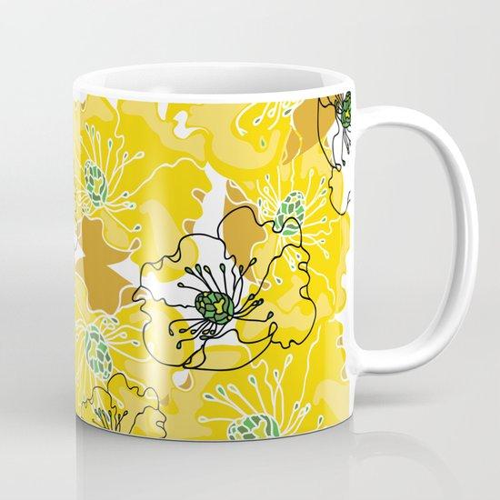 yellow marzipan flowers Mug