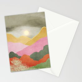 Colorful mountains Stationery Cards