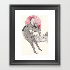 death of the wolf Framed Art Print