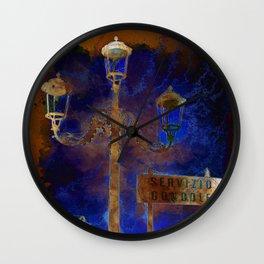 Venezia Servizio Gondole - SKETCH - ART Wall Clock