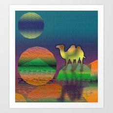 Pop Camel Art Print