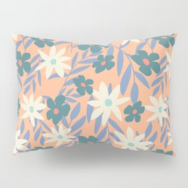 Just Peachy Floral Pillow Sham