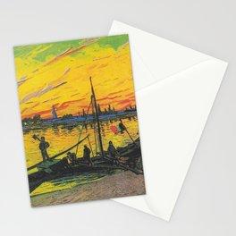 Vincent van Gogh - Coal Barges Stationery Cards