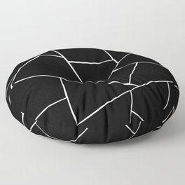 Black White Geometric Glam #2 #geo #decor #art #society6 Floor Pillow