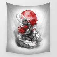 dragon Wall Tapestries featuring Dragon by Marine Loup