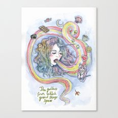 The Goddess From Which Grand Things Spew Canvas Print