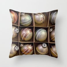 box of ornaments Throw Pillow