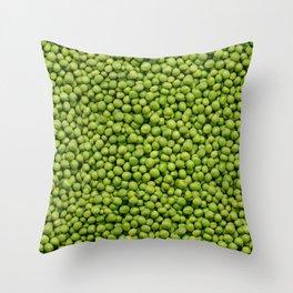 Green Peas Texture No1 Throw Pillow