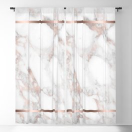 Luxury Rose-gold Faux Marble Blackout Curtain