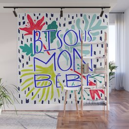 Bisous Wall Mural