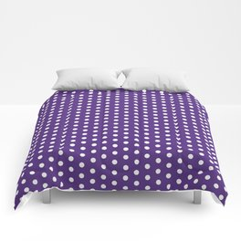 Purple and white university clemson alumni team sports football college Comforters
