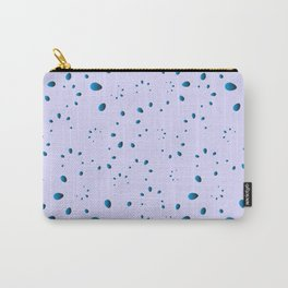A lot of blue drops and petals on a celestial background in mother of pearl. Carry-All Pouch
