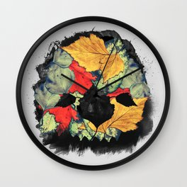 Death of Autumn Wall Clock