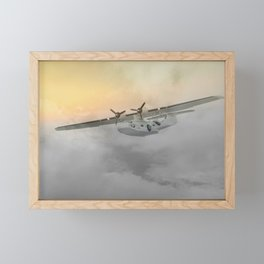 """""""Flying boat"""" Framed Mini Art Print"""