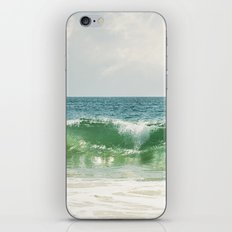 Ocean Sea Landscape Photography, Seascape Waves, Blue Green Wave Photograph iPhone & iPod Skin