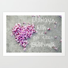 Kisses On The Sidewalk Art Print