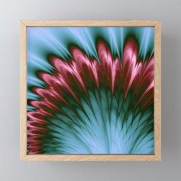 Pink and Aqua Feather Flurry Framed Mini Art Print