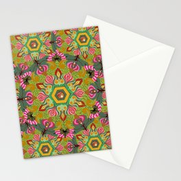 Swirls of Flowers and Lace Stationery Cards
