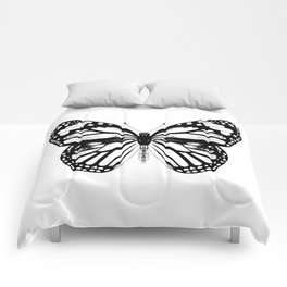 Monarch Butterfly | Black and White Comforters