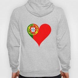 Portugal Heart Flag Hoody