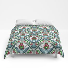 Bluebird Art Deco Pattern  Comforters
