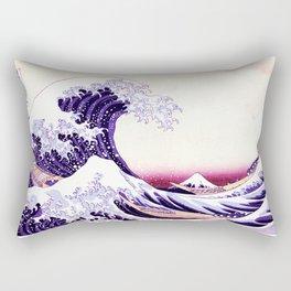 The Great wave purple fuchsia Rectangular Pillow