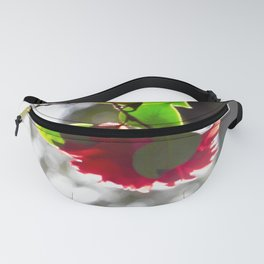 Red Camellia Fanny Pack