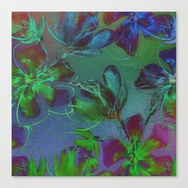 Jewel Toned Flowers Canvas Print