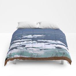 Icebergs on a Calm Sea Comforters