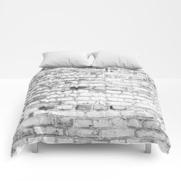 Withe brick wall Comforters