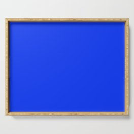 NOW GLOWING BLUE solid color Serving Tray
