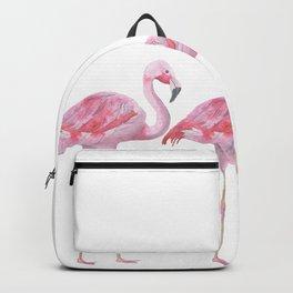 Flamingo - Pink Bird - Animal On White Background Backpack