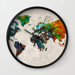 World Map 61 Wall Clock