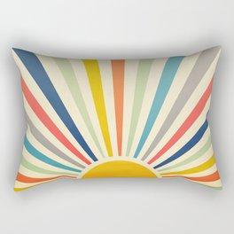 Sun Retro Art III Rectangular Pillow
