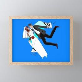 The Dreaming Bridegroom and Bride in Love Framed Mini Art Print